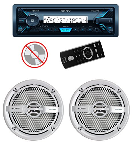 "Sony DSXM55BT MP3/USB Marine Receiver Bluetooth + 2) 6.5"" 140W Speakers White"
