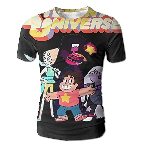 XINSHOU Graphical Steven Universe Men's 3D All Print Short Sleeve Tshirt XL