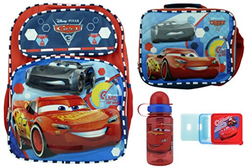 Cars 3 Backpack + Lunch Box + Infusion Bottle + Chill Pack!