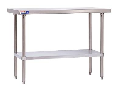 Mesa de acero inoxidable de 4 pies (1219 x 610 x 914 mm de altura ...