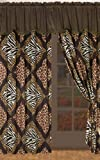 Cheap Safari Curtain Set Zebra, Leopard, Giraffe Two Panels Brand New