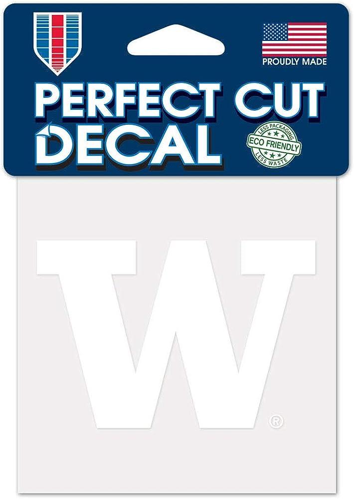 NCAA University Washington Huskies 4x4 White Decal