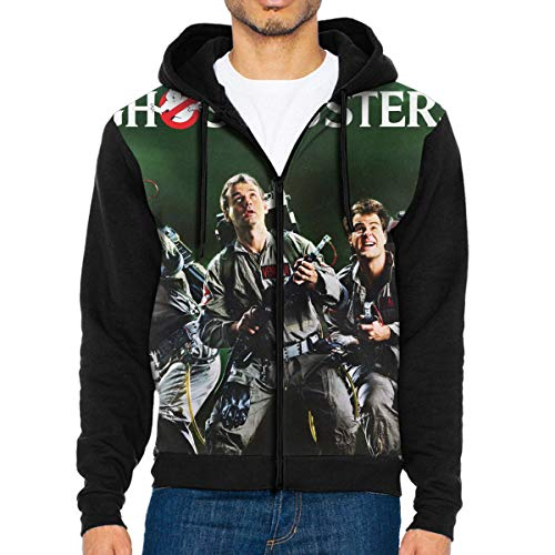 TiaKudy Ghostbusters (1984) Men's Full-Zip Hooded Sweatshirt Pullover Hooded Shirts Pocket