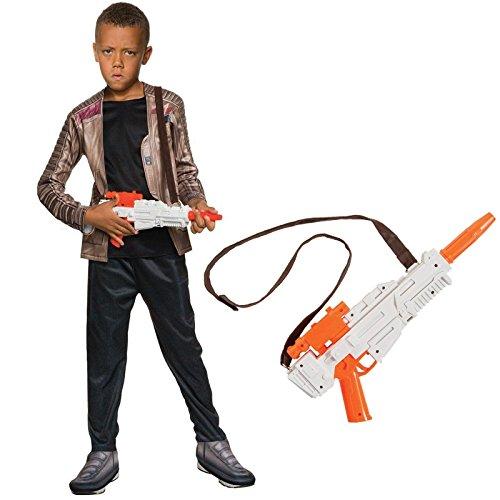 Finn Star Wars Costume Kids (Star Wars Finn Costume Bundle Set - Deluxe Child Large Costume and Blaster)