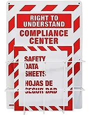 SAFERUN MSDS Right to Understand Center Binder Steel Racks 3mm Thick Polystyrene Board Coated Wire Basket.