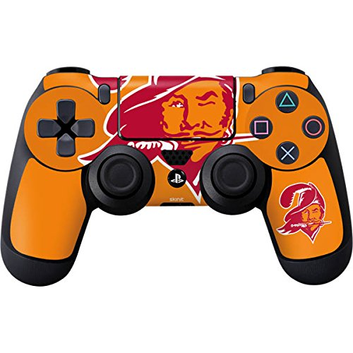(Skinit Tampa Bay Buccaneers Retro Logo PS4 Controller Skin - Officially Licensed NFL PS4 Decal - Ultra Thin, Lightweight Vinyl Decal Protective Wrap)