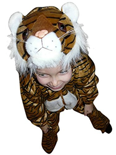 Boys Tiger Costumes (Fantasy World Tiger Halloween Costume f. Children/Boys/Girls, Size: 7, F14)