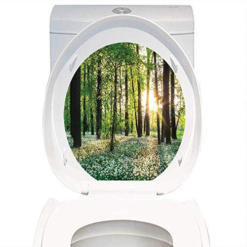 Qianhe-Home - Pegatinas impermeables y extraíbles para decoración de la granja o la casa, con un bosque soleado y un...