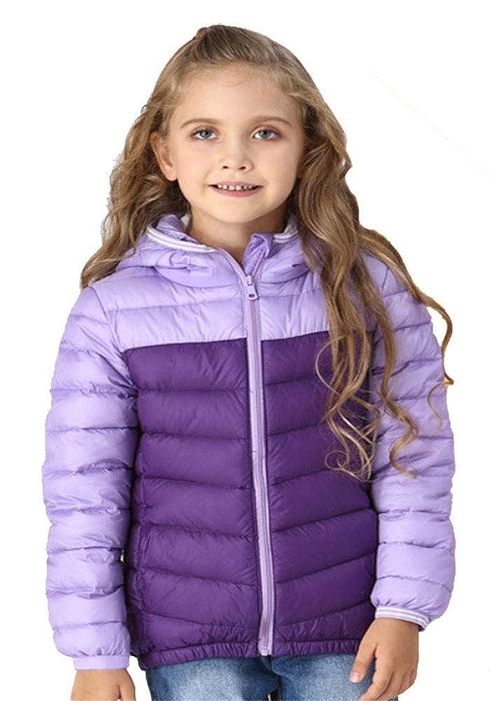 violet 150cm YZ-HODC Doudoune légère d'hiver pour Enfants Nouvelle Couleur Assorcravate aux garçons et aux Filles Doudoune Grande Veste pour Enfants