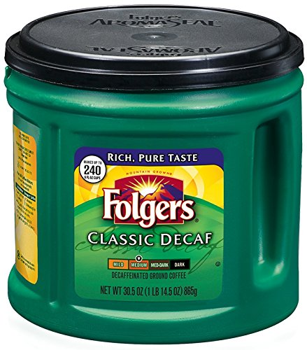 Folgers Classic Roast Decaffeinated Ground Coffee, 30.5 Ounce