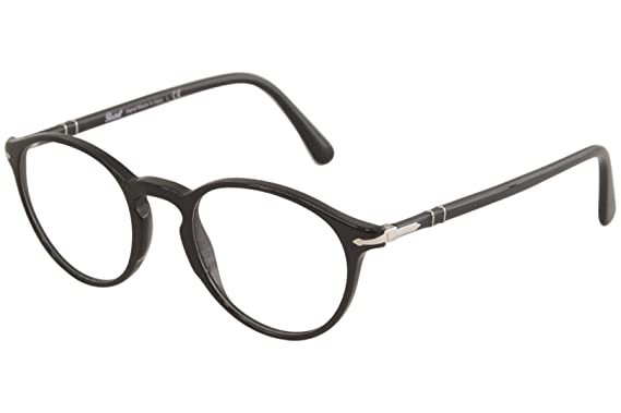 a45118a83 Persol PO3174V Eyeglasses Black 49 at Amazon Men's Clothing store: