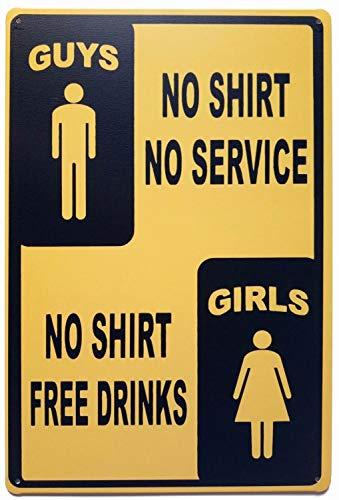 ifidex Eletina Diner Wall Sign , Free Drinks