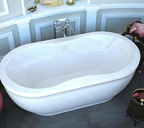 Spa World Venzi Vz3471aa Velia Oval Air Jetted Bathtub, 34x71, Center Drain, (Air Massage Tub)