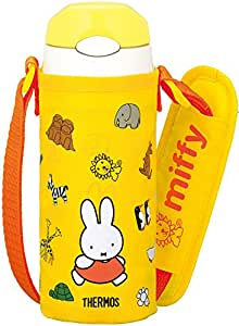 THERMOS vacuum insulation straw bottle Miffy [one-touch open type] 0.36L yellow FFI-401FB Y