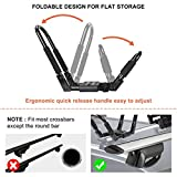 Ediors Upgraded 2 Pairs Folding Kayak Roof Rack, J