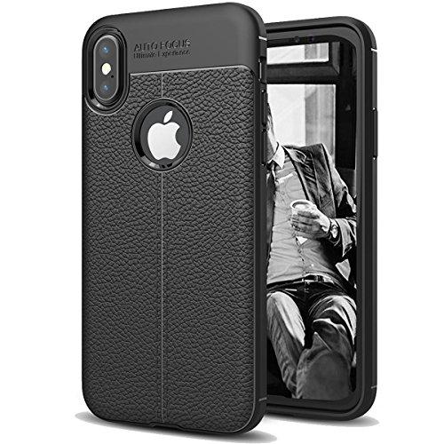 iPhone X Case, AUSCREZICON Black TPU Protective case for iPhone X 2017