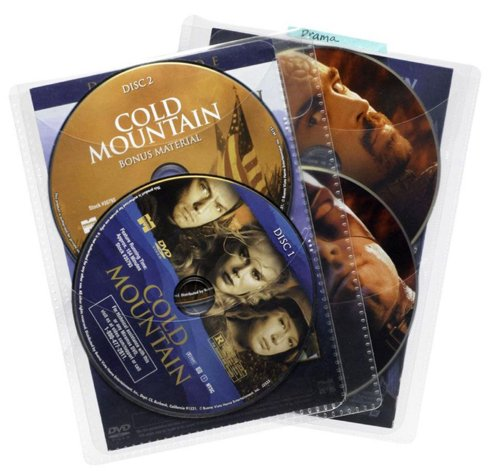 (Atlantic 25 Pack Movie Sleeves - Clear Sleeve hold two discs each, Protects Discs Against Scratches and Dust)