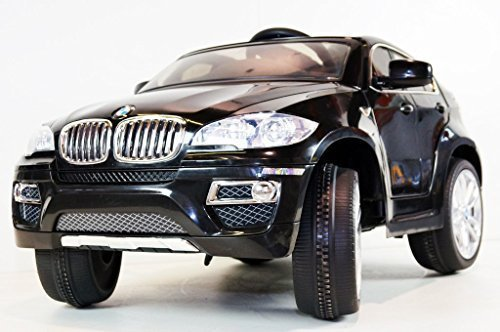 Children Ride On Electric Car Jet Black Bmw X6 License Battery Ride