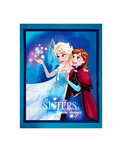 Springs Creative Products Disney Frozen Sisters are Magic 36 in. Panel Blue Fabric,