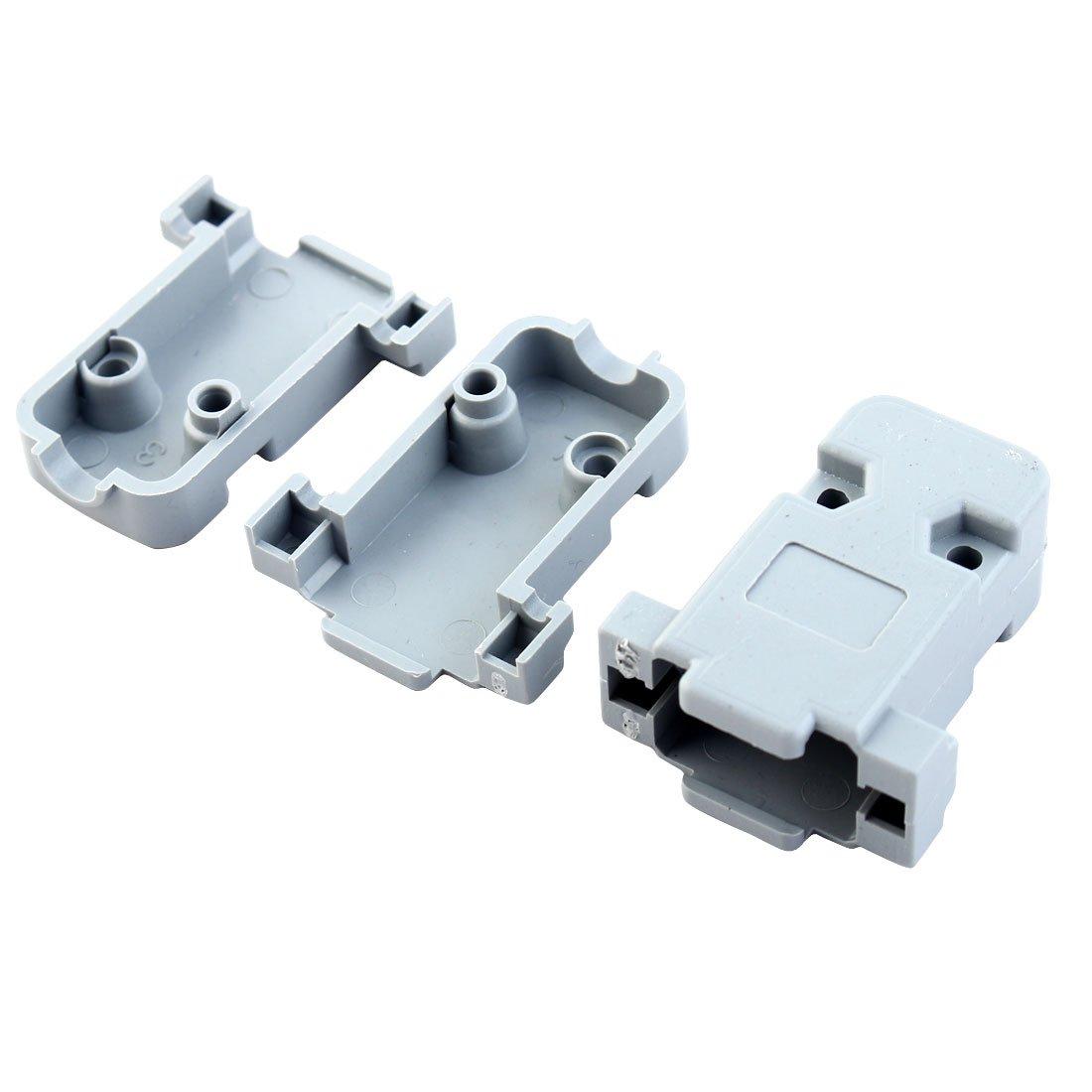 Alloggiamenti in plastica rigida grigia per connettori D Sub DB9 9 pin,confezione da 20