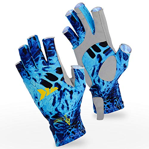 (KastKing Sol Armis Sun Gloves UPF50+ Fishing Gloves UV Protection Gloves Sun Protection Gloves Men Women for Outdoor, Kayaking, Rowing )