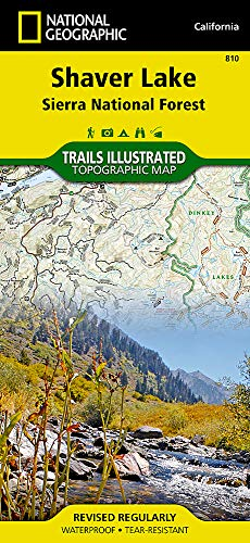Shaver Lake / Sierra National Forest, California (Trails Illustrated Map) (National Geographic Trails Illustrated - John Wilderness Map Muir