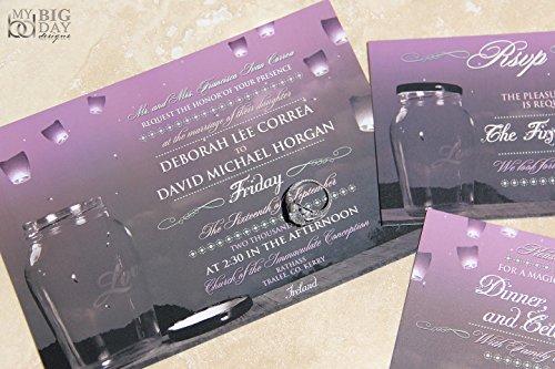 Whimsical Skies Paper Lantern Wedding Invitation Sample Set