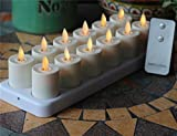 NONNO&ZGF Rechargeable Flameless Votives Moving Flame Wick LED Tealight ...