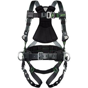 Black//Gry Unversal HONEYWELL MILLER RDT-QC-DP//UBK Full Body Harness 400lb