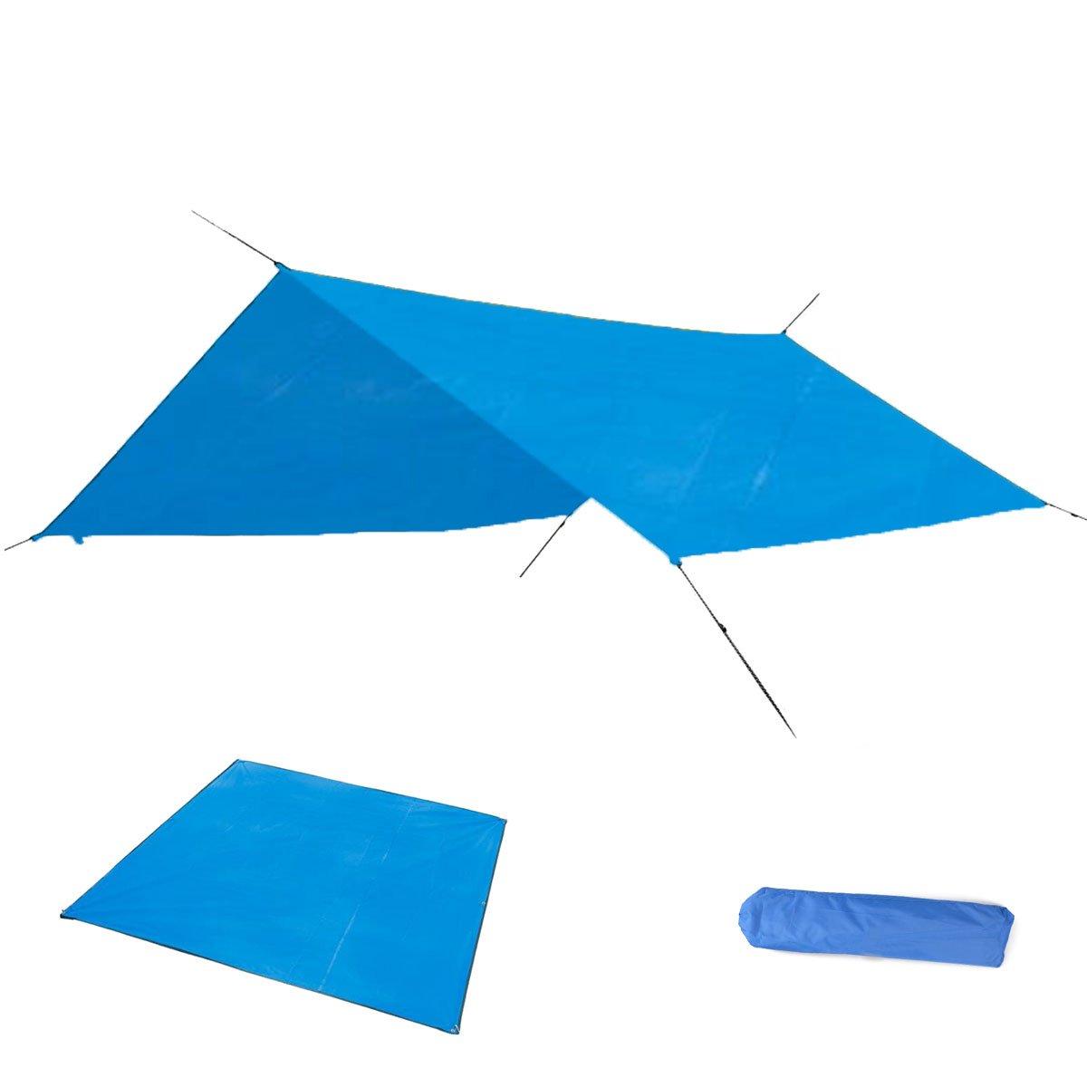 Azarxis Wasserdichte Zeltunterlage, Vorzeltteppich Picknickdecke Stranddecke Camping Matte wasserdurchlässige und Wasserfeste für Markisen Camping