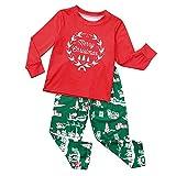FEDULK Merry Christmas Matching Family Boys Girls Pajamas Sleepwear Holiday Kids Pjs Sets(Red2, Kid-10)