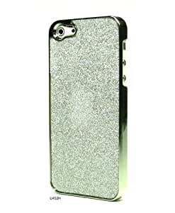 Basicase ™ Chrome Bling Glitter Blink Elegant Charm Brushed Bumper Slim Back Cover Case for iPhone 5 U452H with Special Free Gift by Bydico ™