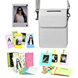 CAIUL 5 in 1 Fujifilm INSTAX SHARE SP-2 Smart Phone Printer Accessories Bundles (White SP-2 Case/ Magnetic Frame / Wall Hang Frames/ Film Frames/ Film Stickers)