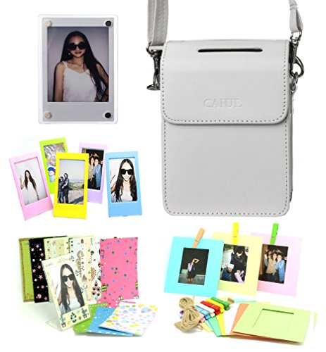 CAIUL Compatible SP-2 Case Bundle with Fridge Magnet Frame, Color Frames & Accessories for Fujifilm INSTAX SHARE SP-2 Printer (White, 5 Items) for $<!--$9.99-->