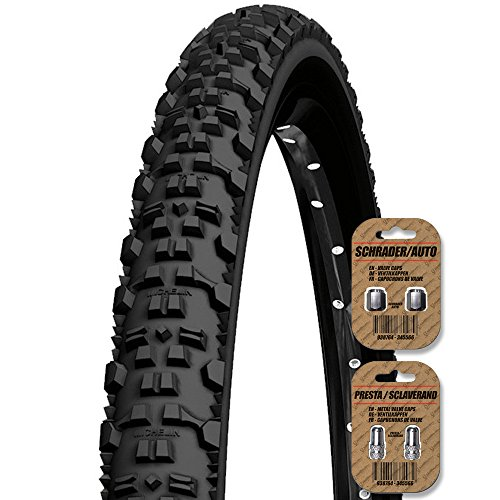 MICHELIN Country All Terrain - 26 x 2.0 - MTB / XC / Mountain Bike Cycle Tire - Wirebead - FREE SHIPPING - FREE VALVE CAP UPGRADE WORTH $4.99! (Cross Country Mountain Bike Tire)