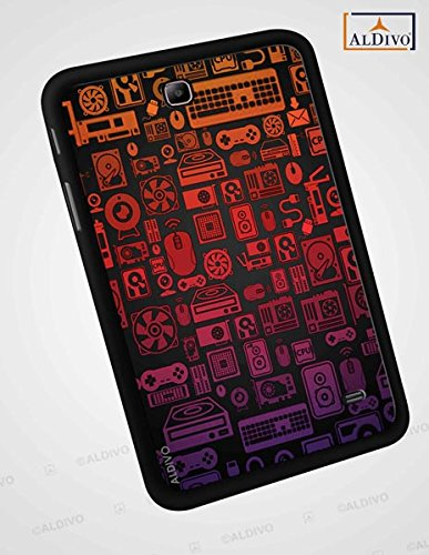 Samsung Galaxy Tab 4 (T231) Printed Back Cover/ALDIVO