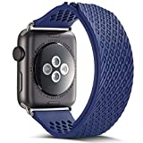Apple Watch Band, Camyse 42mm iWatch Band Strap Premium Soft Silicone Replacement band for Apple Watch Series 2, Series 1, Sport, Edition - Blue