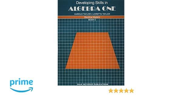 01443 DEVELOPING SKILLS IN ALGEBRA ONE, BOOK C: Dale Seymour ...
