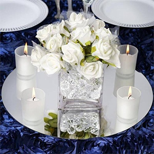 "14"" Round Glass Mirror Wedding Party Table Decorations Cente"