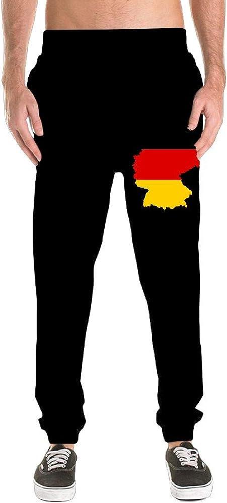 100/% Cotton Germany Map Sports Pants Nm45kL/&KU Men Fit Sweatpants