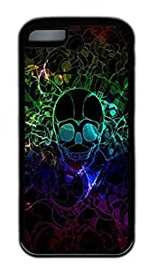 Camouflage Skeleton Lovely Mobile Phone Protection Shell For iPhone 5c Cases - Unique Cool Black Soft Edge Case by supermalls