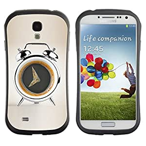 LASTONE PHONE CASE / Suave Silicona Caso Carcasa de Caucho Funda para Samsung Galaxy S4 I9500 / Coffee Alarm Funny