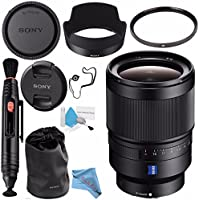 Sony Distagon T FE 35mm f/1.4 ZA Lens SEL35F14Z + 72mm UV Filter + Lens Pen Cleaner + Fibercloth + Lens Capkeeper + Deluxe Cleaning Kit Bundle