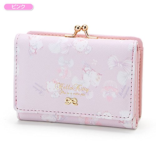 Sanrio Hello Kitty compact Coin wallet ribbon pink From Japan New
