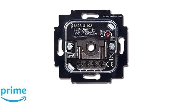 Busch-Jaeger 6523 U 102 - Regulador de intensidad, dimmer LED: Amazon.es: Bricolaje y herramientas