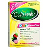 Culturelle Kids! Chewables Probiotic for Kids 50-100lbs Tablets Berry 30 Ea (6 Pack) by Culturelle