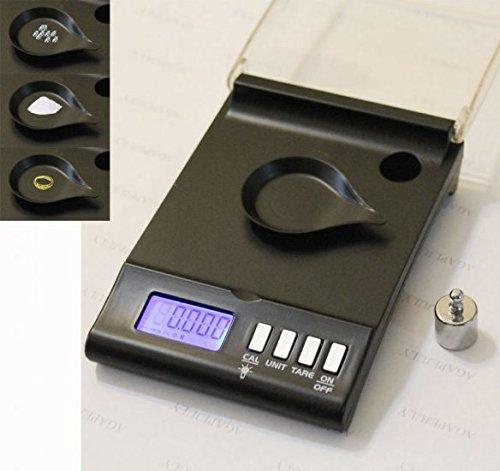 Denshine Smart Weigh High Precision Digital Milligram scale 30 x 0.001 g ideale per pesare gioielli, e altri oggetti preziosi –  nero e altri oggetti preziosi-nero