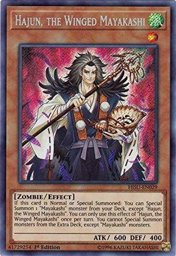Secret Rare 1st Edition Hajun the Winged Mayakashi HISU-EN029