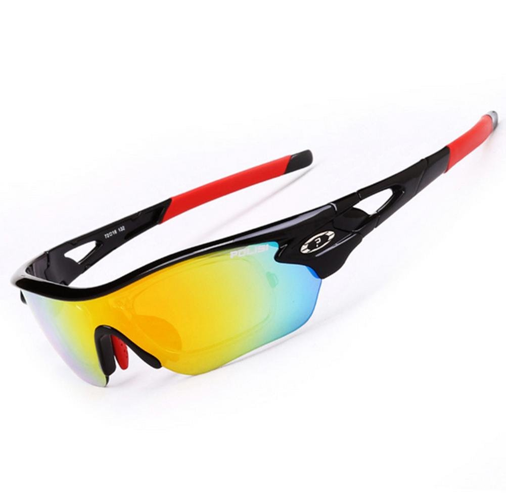 DZW Outdoor-Sport-Sonnenbrille Männer und Frauen Fahrrad Wind Spiegel polarisiertes Licht Reiten Brille kann geändert werden mit Myopie , schwarz