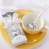 BERON Stainless Steel Tea Time Heart Tea Infuser Steeper(set of 20)